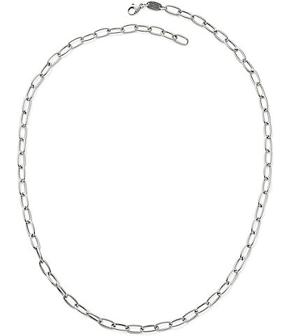 James Avery Oval Link Charm Holder Necklace