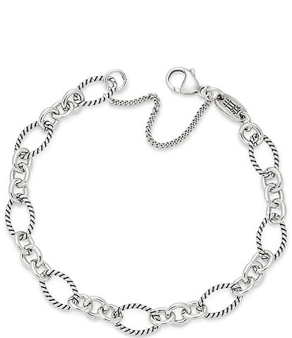 James Avery Oval Twist Charm Bracelet