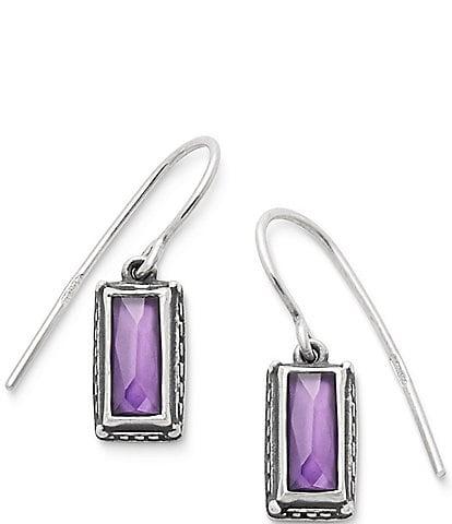 James Avery Palais Violet Doublet Ear Hooks