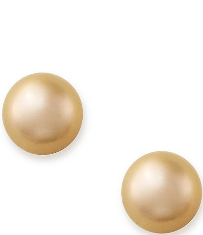 James Avery Peach Cultured Pearl Earrings