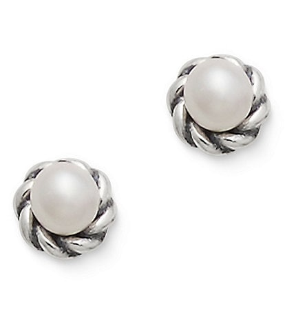 James Avery Petite Freshwater Cultured Pearl Stud Earrings