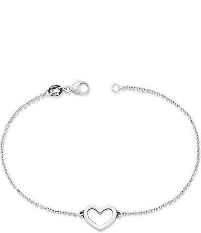 James Avery Petite Heart Link Bracelet