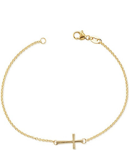James Avery 14K Petite Latin Cross Link Bracelet