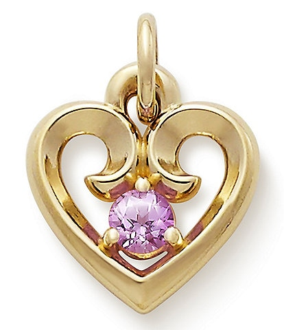 James Avery Remembrance Heart with Lab-Created Pink Sapphire
