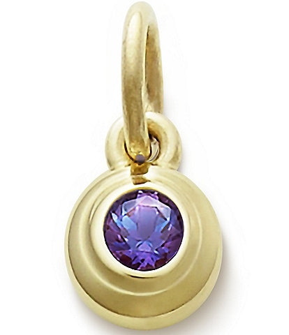 James Avery Remembrance Pendant with Lab-Created Alexandrite