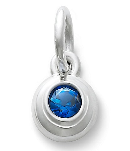 James Avery Remembrance Pendant with Lab-Created Blue Sapphire