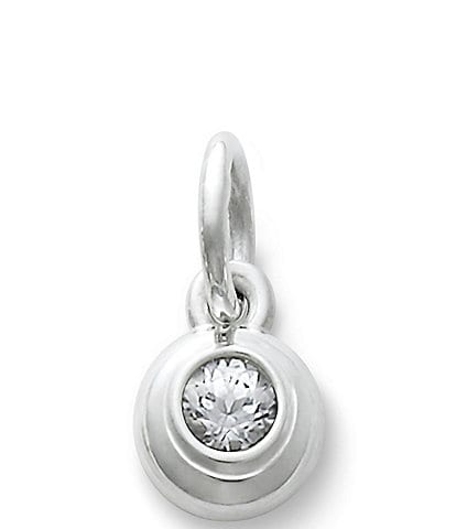 James Avery April Birthstone Remembrance Pendant with Lab-Created White Sapphire