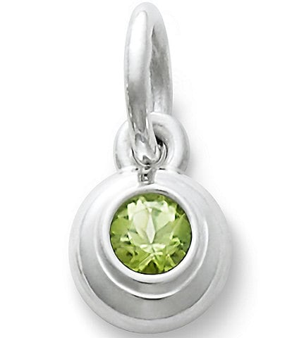 James Avery Remembrance Pendant August Birthstone with Peridot