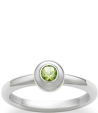 James Avery Remembrance Ring August Birthstone with Peridot