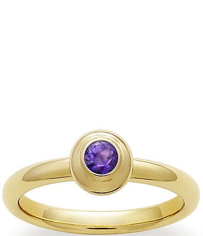 James Avery Remembrance Ring February Birthstone with Amethyst