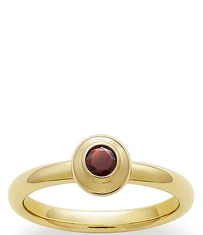 James Avery 14K Remembrance Ring January Birthstone with Garnet