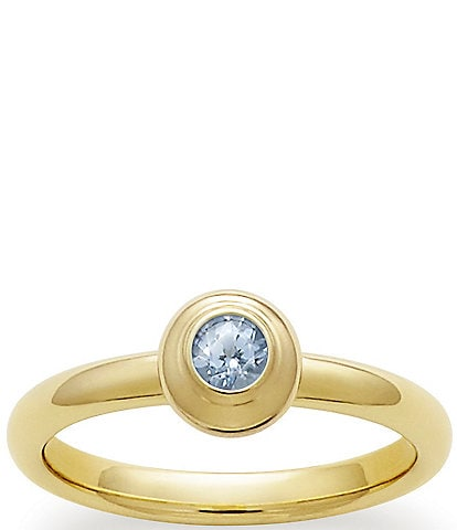 James Avery 14K Remembrance Ring March Birthstone with Lab-Created Aqua Spinel