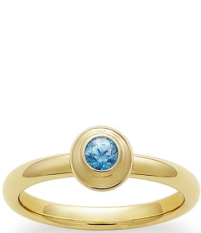 James Avery Remembrance Ring September Birthstone with Blue Zircon