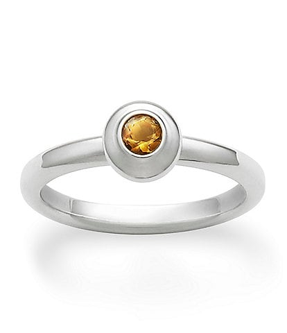 James Avery Remembrance Ring November Birthstone with Citrine