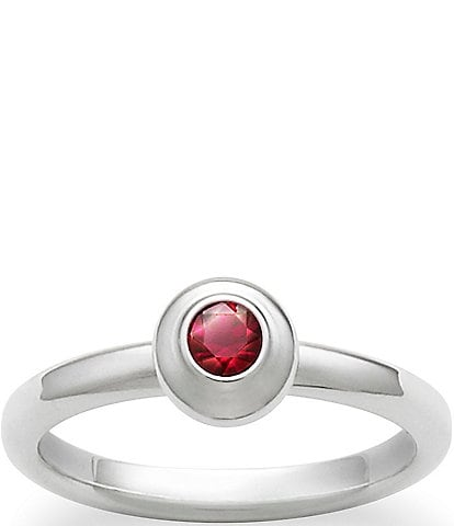 James Avery Remembrance Ring July Birthstone with Lab-Created Ruby