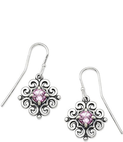 James Avery Scrolled Ear Hooks with October Birthstone