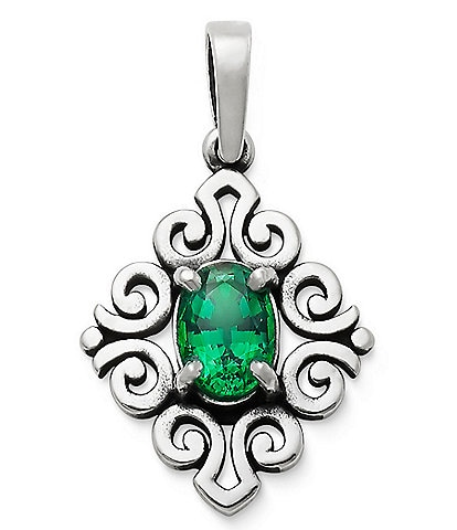 James Avery May Birthstone Scrolled Pendant