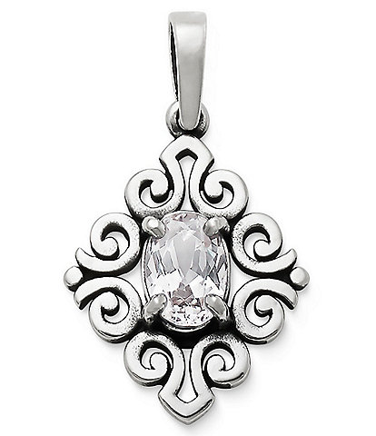 James Avery April Birthstone Scrolled Pendant