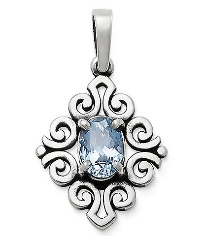 James Avery March Birthstone Scrolled Pendant