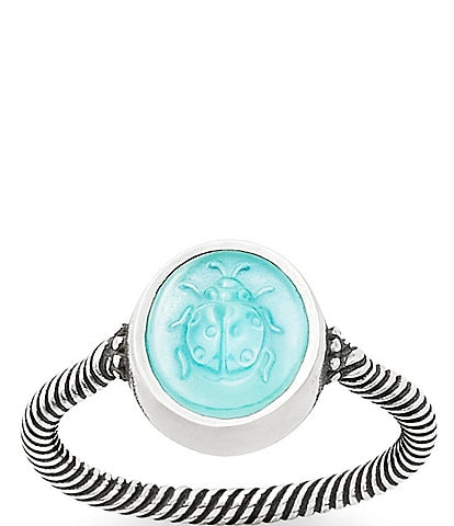 James Avery Sculpted Ladybug Teal Triplet Ring