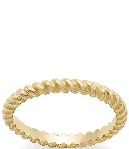 James Avery 14K Small Twisted Ring