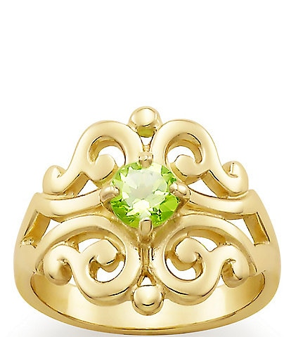 James Avery 14K Spanish Lace Ring August Birthstone with Peridot