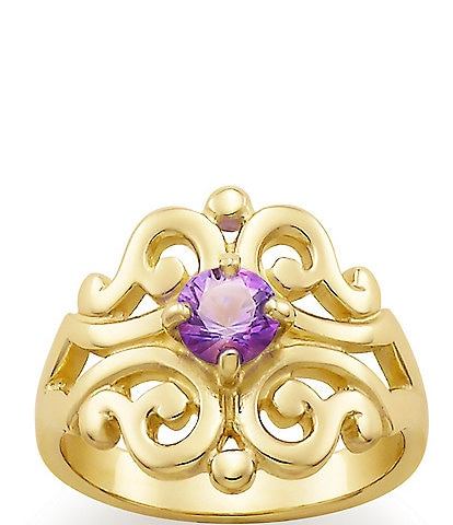 James Avery 14K Spanish Lace Ring February Birthstone with Amethyst