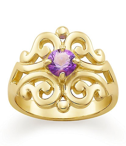James Avery Spanish Lace Ring February Birthstone with Amethyst