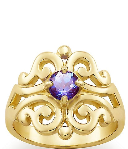 James Avery Spanish Lace Ring June Birthstone with Lab-Created Alexandrite