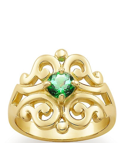 James Avery Spanish Lace Ring May Birthstone with Lab-Created Emerald