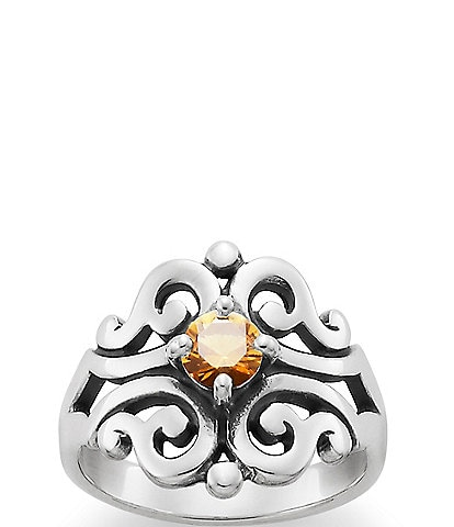 James Avery Spanish Lace Ring November Birthstone with Citrine