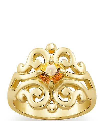James Avery 14K Spanish Lace Ring November Birthstone with Citrine