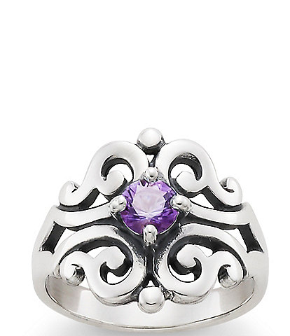James Avery Spanish Lace Ring with Amethyst