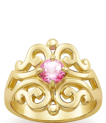 James Avery Spanish Lace Ring with Lab-Created Pink Sapphire