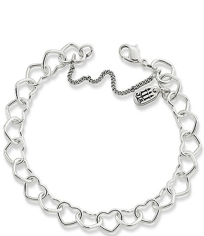 James Avery Sterling Silver Connected Hearts Charm Bracelet