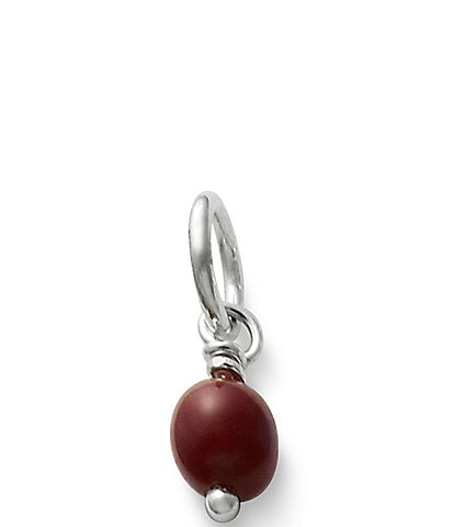 James Avery Sterling Silver Glass Bead Enhancer Charm