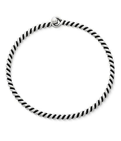 James Avery Sterling Silver Twisted Wire Hook-On Bracelet