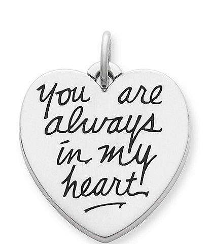 James Avery Sterling Silver #double;You Are Always in My Heart#double; Charm