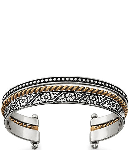 James Avery Styled Stack Contrasting Cuff Bracelet