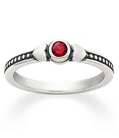 James Avery Sweetheart July Birthstone Ring with Lab-Created Ruby