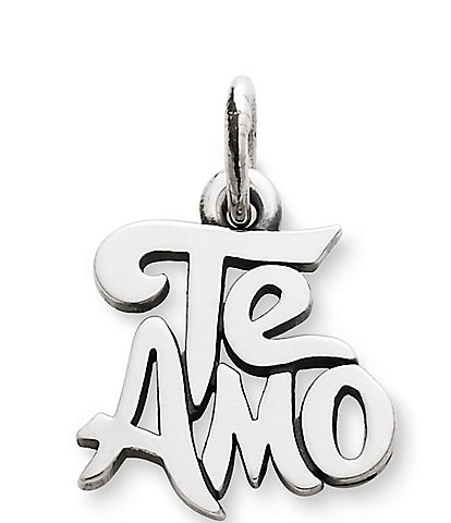 James Avery Te Amo Sterling Silver Charm