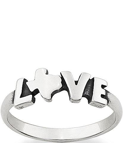 James Avery Texas Love Ring