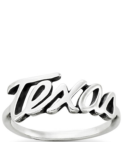 James Avery Texas Script Ring