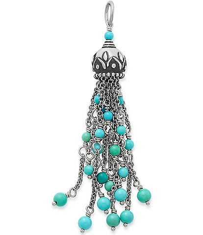 James Avery Turquoise Tassel Pendant
