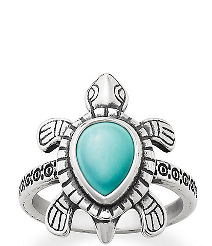 James Avery Turquoise Turtle Ring