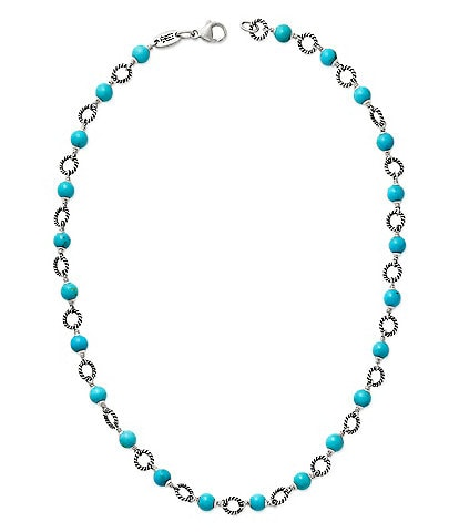James Avery Twisted Wire Link Necklace with Turquoise