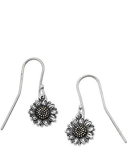 James Avery Wild Sunflower Ear Hooks