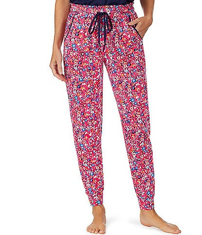 Jane & Bleecker New York Floral Print Knit Jogger Sleep Pants