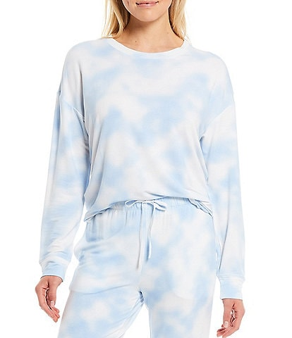 Jasmine & Ginger Cloud Print French Terry Lounge Sweatshirt