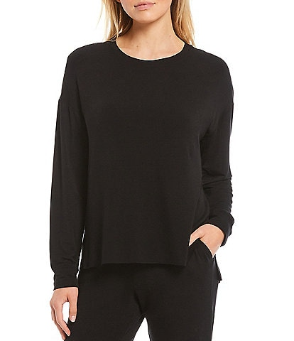 Jasmine & Ginger Solid French Terry Lounge Sweatshirt